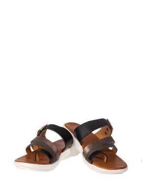 Cleo Women Black Casual Slip-On Sandal