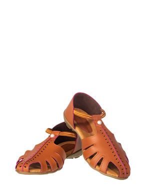 Khadim's Women Tan Casual Slip-On Sandal