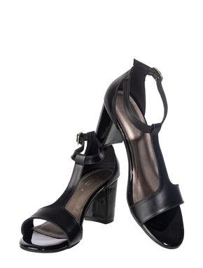 Sharon Women Black Lifestyle Heel Sandal