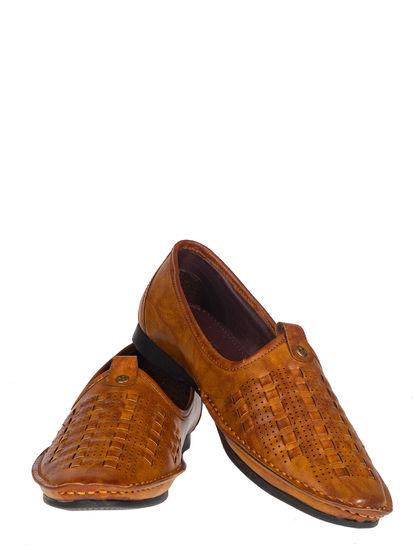 Lazard Men Brown Ethnic Mojri Shoe