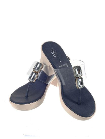 Cleo Women Navy Lifestyle Heel Sandal