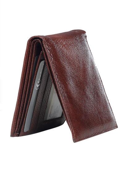 Khadim Men Maroon Leather Wallet