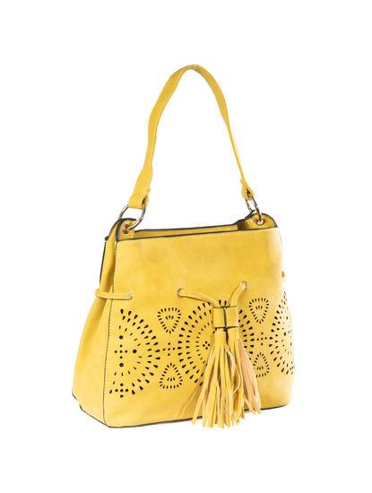 Khadim's Women Yellow Handbag