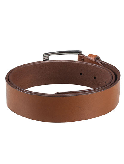 Khadim's Men Tan Leather Belt