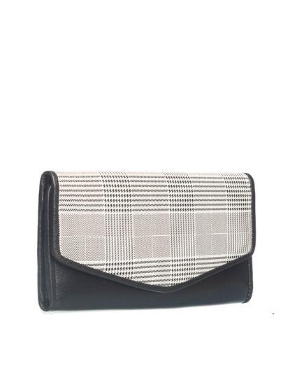 Khadim Women Black Checkbook Wallet