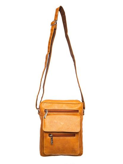 Khadim Men Tan Crossbody Bag