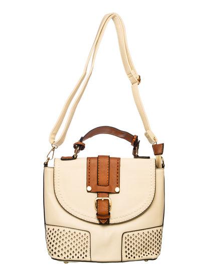Khadim Women White Crossbody Bag