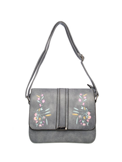 Khadim Women Grey Crossbody Bag