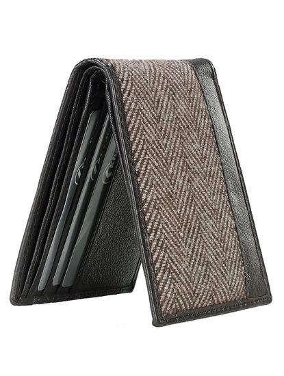 Khadim Men Tan Leather Wallet