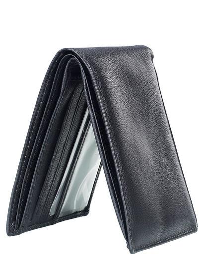 Khadim Men Black Leather Wallet