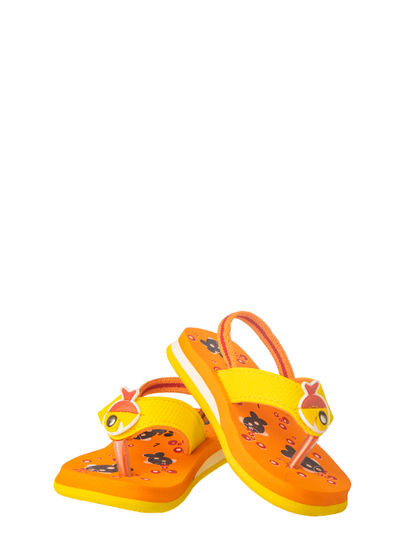 Bonito Kids Orange Casual Strap-On Sandal