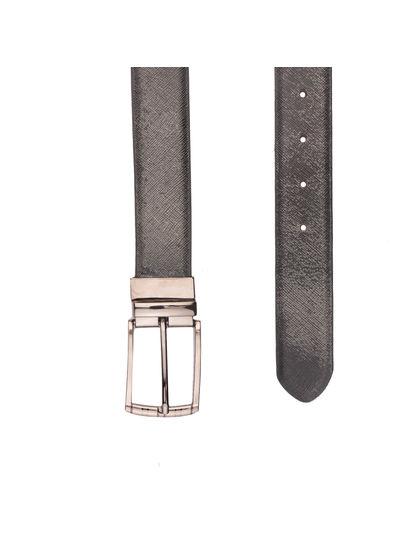 Khadim's Men Multicolour Leather Belt (Reversible & Resizable)