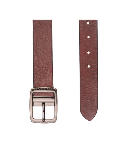 Khadim's Men Maroon Leather Belt