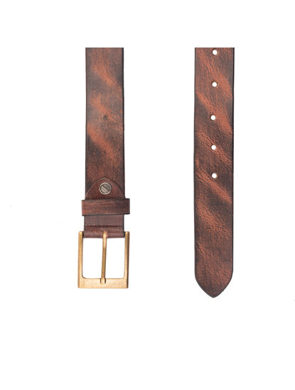 Khadim's Men Brown Leather Belt