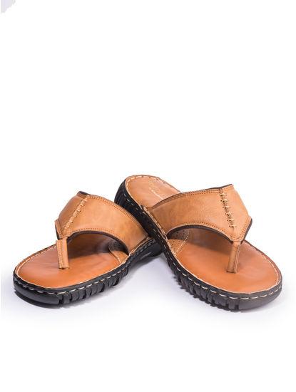 Khadim's Softouch Men Tan Casual Slip-On Sandal