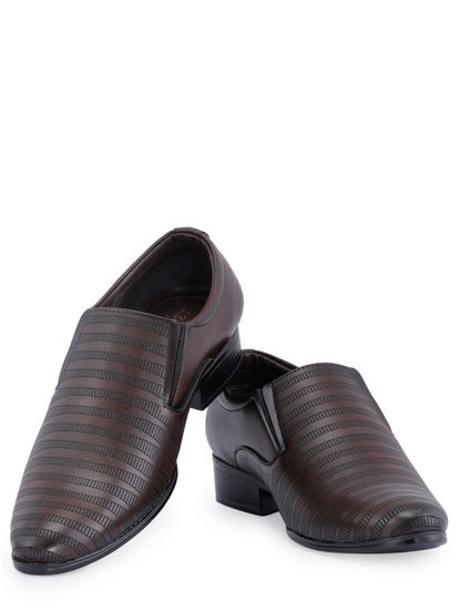 Lazard Men Brown Lifestyle Slip-On Shoe