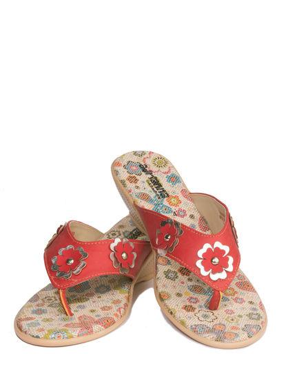 Adrianna Red Casual Heel Sandal