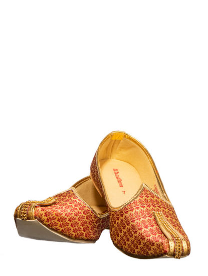Khadim's Red Ethnic Mojri Shoe