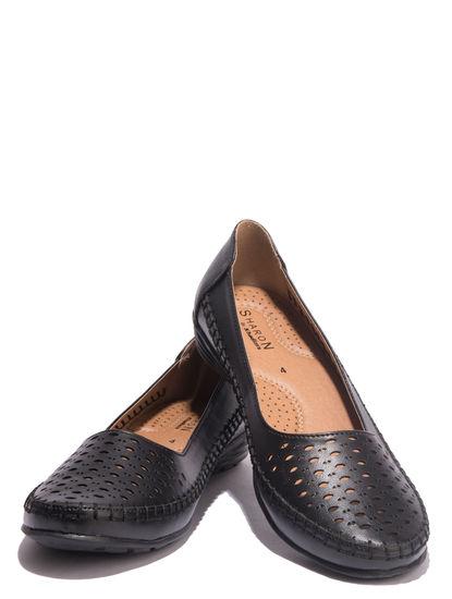 Sharon Black Casual Ballerina Shoe