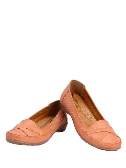 Sharon Peach Casual Ballerina Shoe