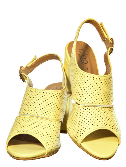 Cleo Yellow Casual Mule Sandal
