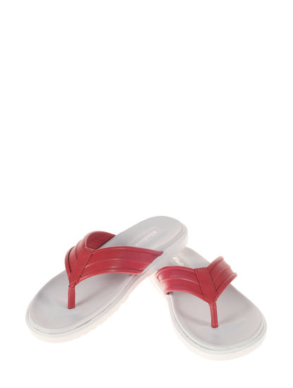 Khadim's Red Casual Outdoor Slipper