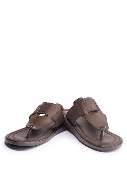 Khadim's Men Brown Casual Slip-On Sandal