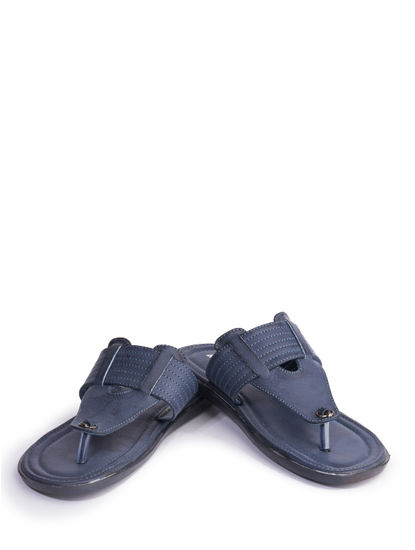 Khadim's Men Blue Casual Slip-On Sandal