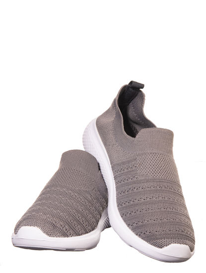 Pro Grey Casual Slip-On Sneakers