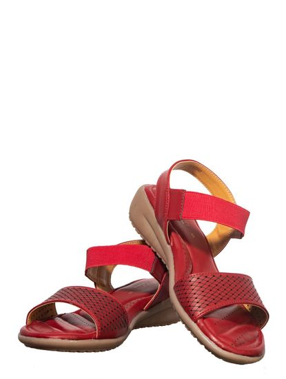 Softouch Maroon Casual Strap-On Sandal