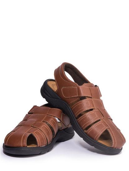 Khadim's Turk Men Brown Lifestyle Dress Sandal
