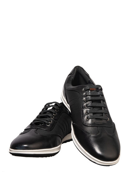 Lazard Men Black Lifestyle Oxford Shoe