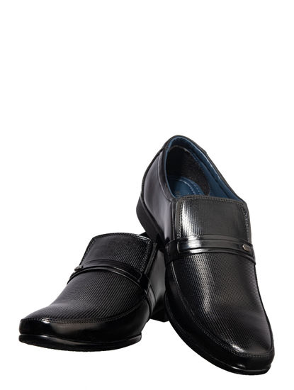 Khadim's Black Formal Slip-On Shoe