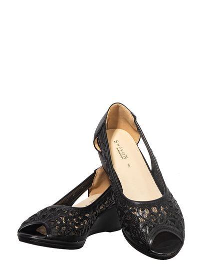 Sharon Black Casual Mule Sandal
