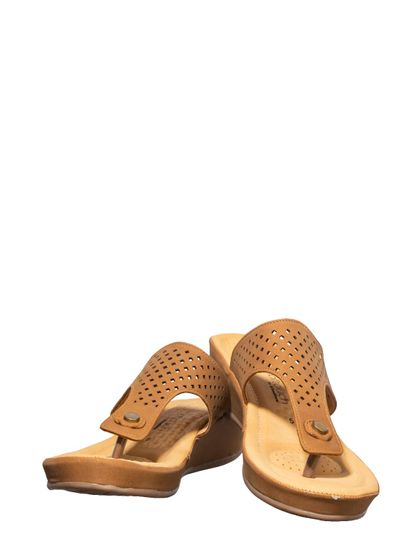 Softouch Brown Casual Slip-On Sandal