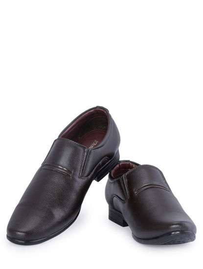 Khadim's Brown Formal Slip-On Shoe