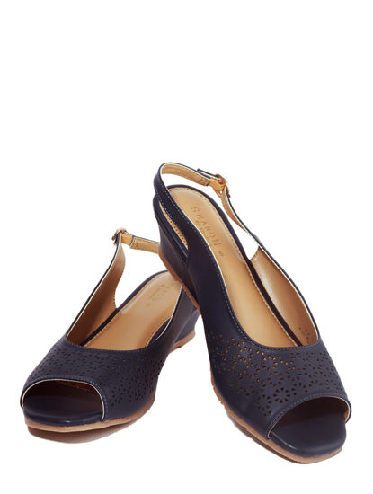 Sharon Navy Lifestyle Mule Sandal