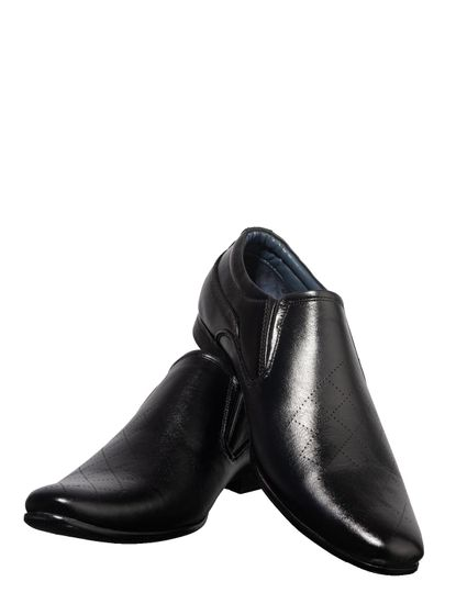 Lazard Men Black Formal Slip-On Shoe