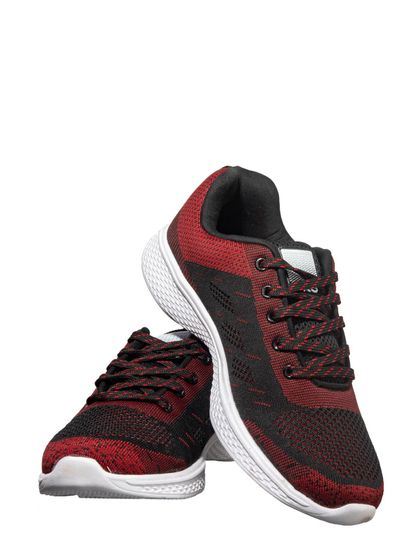 Pro Men Maroon Sports Activity Sneakers