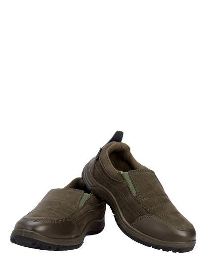 Turk Men Olive Outdoor Slip-On Boots