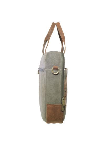 Khadim's Grey Laptop Crossbody Bag