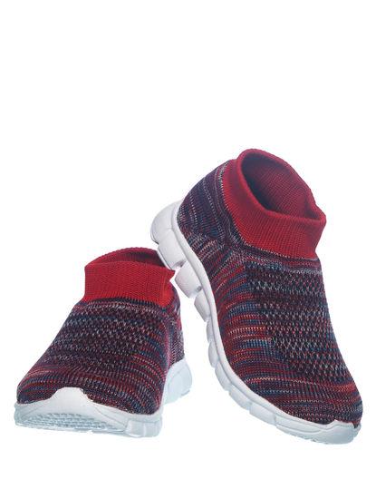 Khadim's Bonito Kids Red Slip-On Sneakers