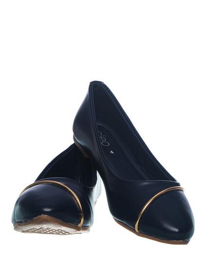 Khadim's Cleo Women Navy Casual Ballerina Shoe