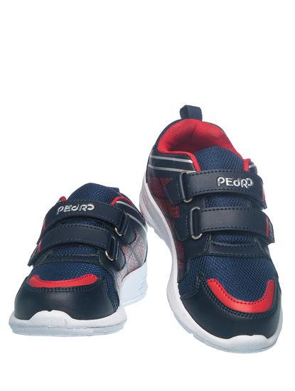 Khadim's Pedro Boys Navy Strap-On Sneakers
