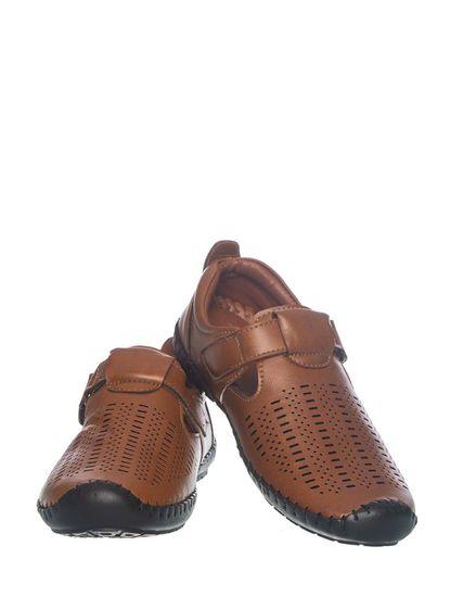Khadim's Pedro Boys Brown Strap-On Shoe