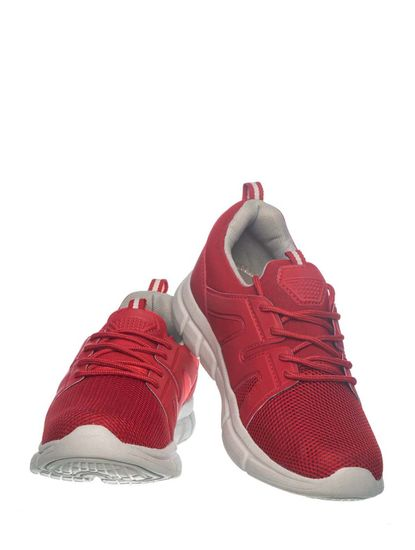 Khadim's Pedro Boys Red Lace-Up Sneakers