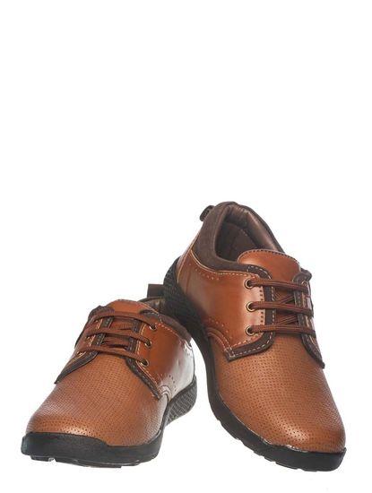 Khadim's Pedro Boys Brown Derby Shoe