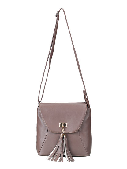 Khadim Women Brown Crossbody Bag