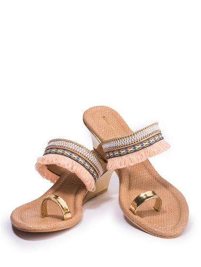 Khadim's Women Pink Lifestyle Heel Sandal