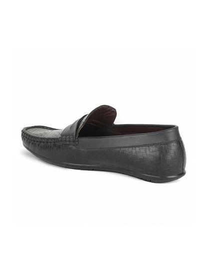 Khadim's Lazard Men Black Lifestyle Loafer Shoe